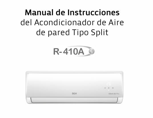 Manual de instalación de aire acondicionado split BGH Silent Air series BS23MP4, BS30MP4, BS45MP4, BS55MP4.